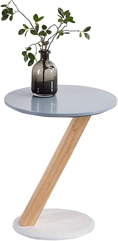 Feifei Side Table Solid Wood Round Creative Modern Mini Home Sofa Side Table 40  46CM