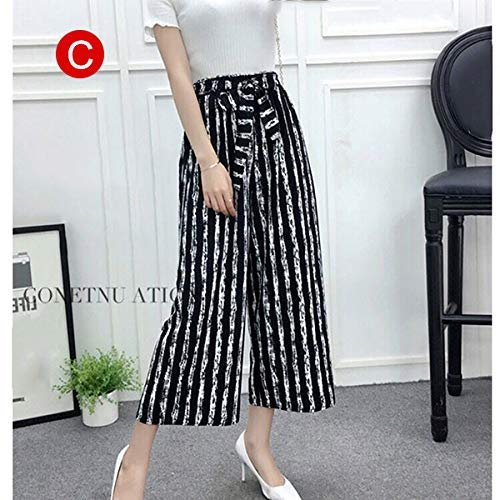 Womens Brede Been Hoge Taille Casual Zomer Dunne Broek Losse Culottes Broek L C