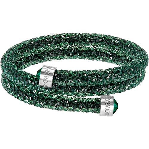Swarovski Damen-Armreif Crystaldust Bracelet Edelstahl Kristall grün Rundschliff - 5250687