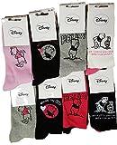 Damen-Söckchen Disney: Minnie, Prinzessin, Tinkerbell, Winnie, Titi, Star Wars, aus Baumwolle, verschiedene Modelle je nach Verfügbarkeit. Gr. One size, Pack de 6 Asst2 Winnie L'ourson