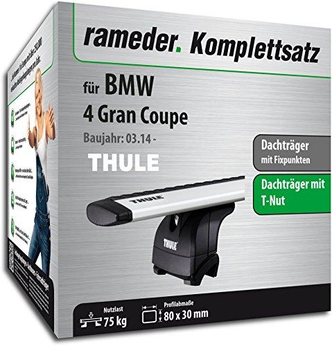 Rameder Komplettsatz, Dachträger WingBar EVO für BMW 4 Gran Coupe (114436-11900-5)