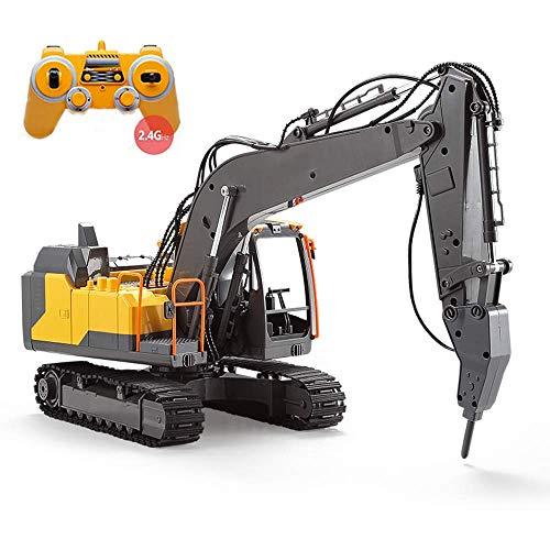 Dfghbn Control Remoto Camión Excavadora Pala Construcción Tractor Juguete Modelo Modelo Modelo Modelo Interesante Agarre eléctrico