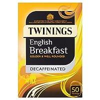 1パックトワイニングカフェイン抜きのイングリッシュブレックファーストティーバッグ50 (x 2) - Twinings Decaffeinated English Breakfast Tea Bags 50 per pack (Pack of 2) [並行輸入品]