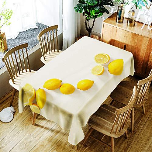 Tafelkleed Rechthoekig Citroen Salontafelkleed Nordic Eettafel Keuken Nordic Print Spatwaterdicht en Wasbaar Tafelkleed 55X78 Inches