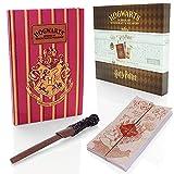 Wizarding World Harry Potter - Set de regalo de papelería – Agenda A5, mapas de merodeadores y bolígrafo de varita – Regalos y mercancía oficial de Harry Potter