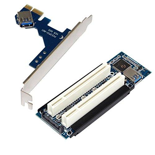 balikha 1x Tarjeta Vertical PCI E de Doble Ranura con Tornillos Y Cable USB para Minería