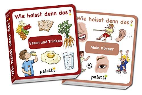 Wie heisst denn das? Kinderbücher 2er Set Pappbuch Essen und Trinken und Mein Körper