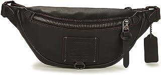 Coach Rivington Unisex Small Black Leather Belt Bag 76188 JIBLK