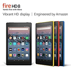 Máy tính bảng Fire HD8 Tablet, 8″ HD Display, 32 GB Màu vàng Yellow, 32 GB RAM khe microSD, 1.3 GHz 4 nhân CPU, pin xài 10 giờ, Alexa rảnh tay, 1.5 GB RAM, 2 camera, 2 MP HD & 2MP do Amazon