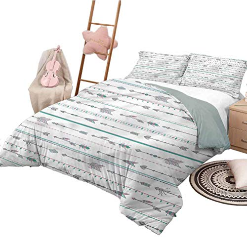 Nomorer Bed Set King Size Arrows Lightweight Quilt Set Bed Sets for All Season Boho Native American Motifs