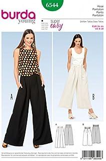Burda Ladies Easy Sewing Pattern 6544 Wide Leg Pants