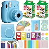 Fujifilm Instax Mini 11 Instant Camera Sky Blue + Carrying Case + Fuji Instax Film Value Pack (40 Sheets) Accessories Bundle, Color Filters, Photo Album, Assorted Frames