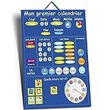 Mon Premier Calendrier- Calendrier Enfant Educatif- Calendrier Magnétique Enfant-En Francais (Bleu)