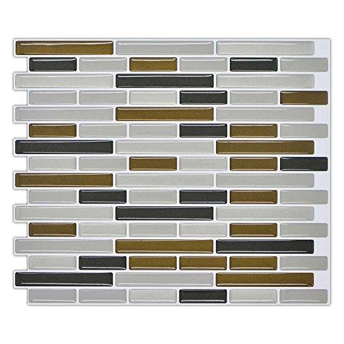 Momangel Kitchen - Adhesivo decorativo para pared, diseño de mosaico de ladrillo 3D multicolor