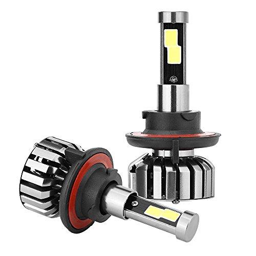 2x H13/9008 LED xenon koplamp 80 W 12 V 6000 K waterdicht 9008/H13 zwart.