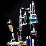 WBJLG Living Equipment 24 Piezas 500 ml Unidades de destilación Set alambique destilador Ciencia Industrial cristalería de Laboratorio Niebla Purificación Hecho de aceites Puros