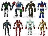 8Pcs / Lot Real Steel Zeus Twin Cities Robot Atom...