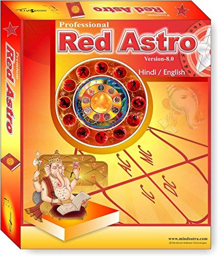Red Astro 8.0 Pro. ( Language Hindi , English ) Astrology Software