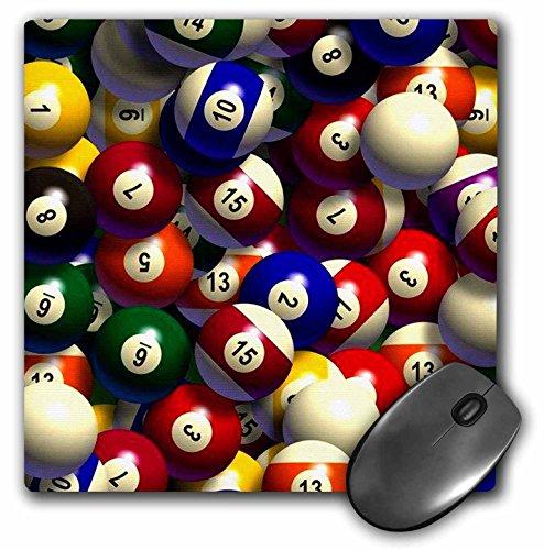 3dRose LLC Mauspad, 20,3 x 20,3 x 0,6 cm, Billiardbälle