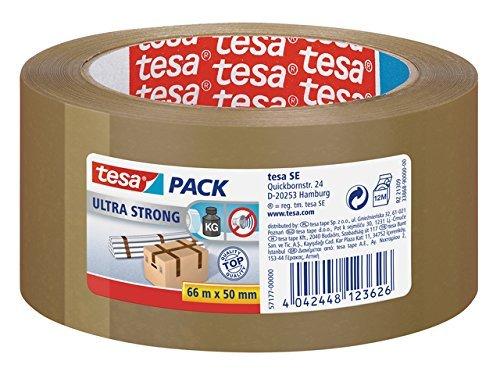 12er Pack tesa 57176-00 tesapack ultra-strong 66 m:50 mm braun