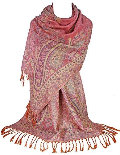 GFM Pashmina-Schal, Blumenmosaik Gr. 90, S13-hlglb - Light Pink