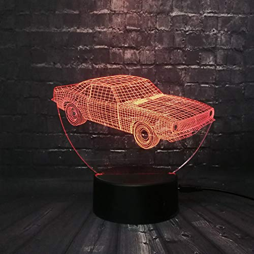 Cuba Retro Animation Cool Car 3D Usb Led Lamp Car-Styling Colorful Cool Boy Gift Toys Rgb Night Light Table Decoration