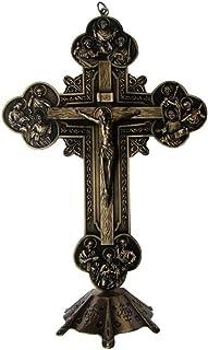 Welve Apostles Cross Statue, Christian Religion of Jesus Christ Emmanuel, 32.5cm