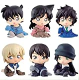 Detective Conan Anime Modelo Modelo Estatua Decoración de la Tabla 10 cm 1 Set 6