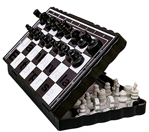 Jambuwala Enterprise® Mini Magnetic Educational Toys Travel Chess Set, Mini Foldable Chess, Pocket Size Magnetic Travel Chess with Folding Board for Kids,Boys,Girls,Childrens and Adults