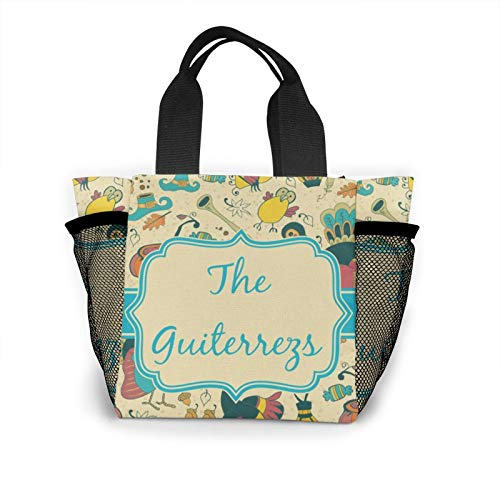 Thanksgiving Placemat Fabric Personalised Handbag Women's Fashion Shopping Bag Reusable Carry Small Handbag