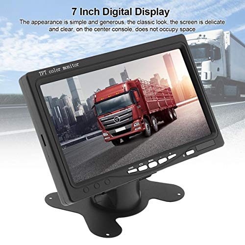 SSSabsir 7 Inch Ultra Thin TFT LCD HD Monitor Audio Video AV Car Home Monitor 7 inch 800 * 480