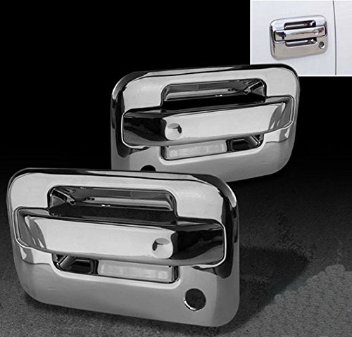 MaxMate Fits 04-07 Lincoln Mark//08-13 F250//F350//F450 Super Duty//04-13 F150 Not for Heritage //07-10 Explorer Sport Trac Chrome Tailgate Handle Cover W//Keyhole