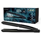 REVAMP Progloss Steam Care Ceramic Hair Straightener - Salon Straightener with Slimline Steam...