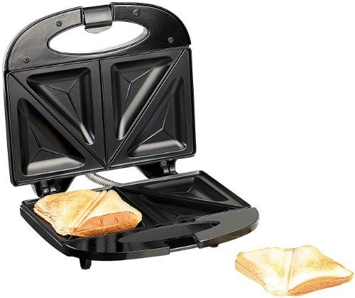 Rosenstein & Söhne Sandwitchmaker: Antihaft-beschichteter Sandwich-Toaster für 4 Portionen, 750 Watt (Sandwich Grill)