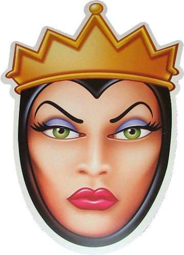Halloween Disneys böse Stiefmutter (Königin) aus Schneewittchen (Snow White) Kostümmasken aus steifer Karte - Offizielles Produkt von Disney