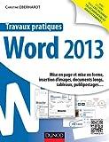 Travaux pratiques - Mise en page et mise en forme, insertion d'images, documents longs, tableaux, publipostages&am