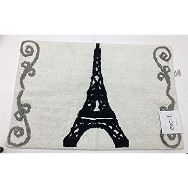 Excell Paris Eiffel Tower Soft Cotton Bath Rug