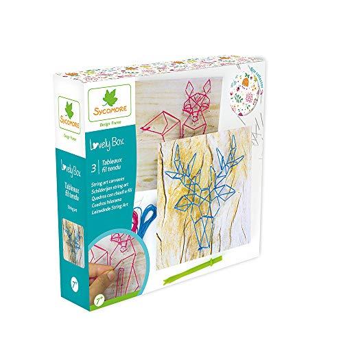 Kit de loisir créatif enfant - Fil tendu - 3 tableaux - DIY...