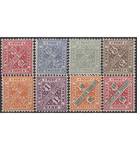 Goldhahn Württemberg Nr. 203,204,206,208,210,212,215,216 postfrisch ** Briefmarken für Sammler