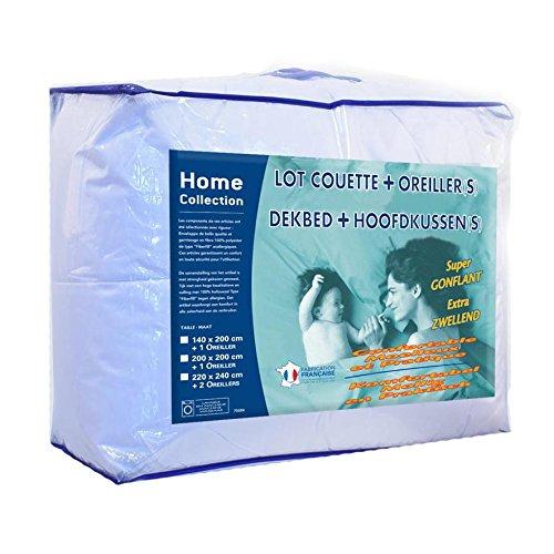 Home Collection Pack Couette Câline 2 Personnes 220x240 cm avec 2 Oreillers 60x60 cm LKS25