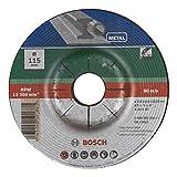 Bosch 2609256336 Disco per sgrossatura, per metallo, 115 mm ø x 6 mm...