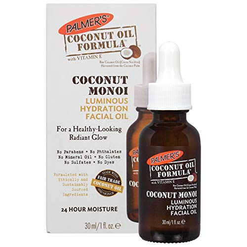 Palmer's Coconut Oil Formula Coconut Monoi Luminous Hydration Facial Oil, 1 Ounce