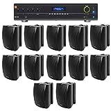 JBL VMA1240 Commercial/Restaurant 70v Mixer/Amplifier+(12) 6.5' Wall Speakers