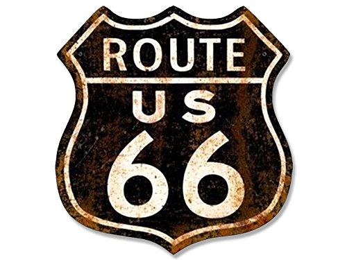 <span style=''>빈티지 블랙 녹슨 루트 66 로그인 모양의 스티커(미국 역사적인 고속도로 오래된 데칼)</span>