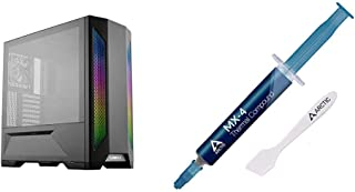 LIAN LI LANCOOL 2 Black Tempered Glass ATX Case -Black & Arctic MX-4 - Thermal Compound Paste for Coolers | Heat Sink Past...