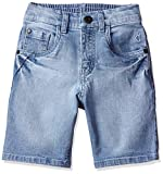 Gini and Jony Regular fit Denim Shorts (121260691116 6000_Boys_Color Name: Blue_Stone WASH_2 | 3-4 Years)