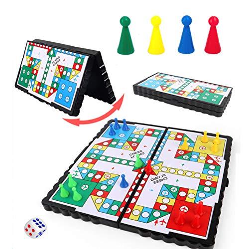 Knowoo Juego de ajedrez plegable magnético juego de mesa portátil camping juego...