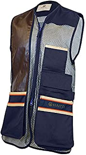 Beretta Mens US Two Tone Shooting Vest, Green Olive, XXXL