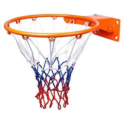 YZT QUEEN Stojak do koszykówki na zewnątrz stojak do koszykówki montowany na ścianie bramka obręcz wewnątrz z wytrzymałą stalową ramą z oczkami bardzo trwały, 45 cm