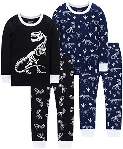 Pajamas for Boys Christmas Baby Airplane Clothes Children Space Pants Set Kids 4 Pieces Sleepwear